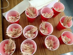 STEM Activity: Marshmallows and toothpicks. Construct solid shapes and engineer sculptures.