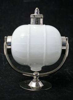 Old Vintage Wall Mount Glass Globe Amp Chrome Metal Hand