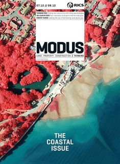 Modus (UK) Art Director Christie Ferdinando Image Blom UK: False-colour high res aerial imagery of 'Southampton that highlight different vegetation types. The UK Environmental Agency are using them to access erosion and flood mapping along the south coast.'