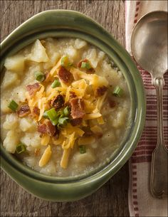 Loaded Baked Potato Soup -   Creamy potato soup, loaded with all your favorite baked potato toppings.
