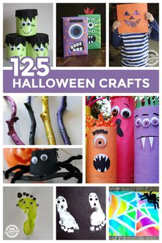 A Huge List of cute and easy Halloween Crafts {125 Ideas!} Perfect for class activities!