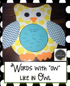 Erica Bohrer's First Grade: Owls, Plants, and Last Week's Plans