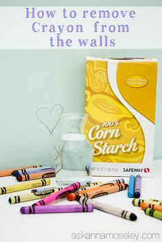 How to remove crayon from walls, doors, etc - Ask Anna Follow us on Facebook here: http://www.facebook.com/diyncrafts