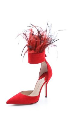 Paul Andrew Aquila Feather Cuff Heels #shopbop