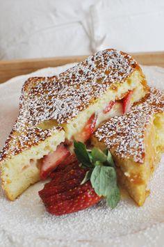 strawberry orange stuffed french toast
