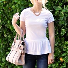 I really want to try this!! -- Adorable and easy Peplum T-shirt #DIY