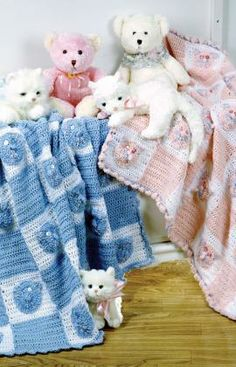 Kitties and Bears Crochet Pattern.  Red Heart Free Pattern - no membership required.
