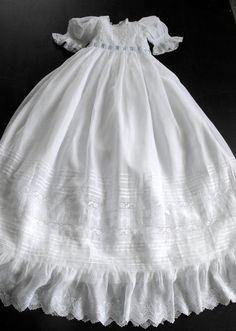 Exquisite Vintage French Handmade Christening Gown by Vintagefrenchlinens on Etsy