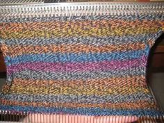 Making a sock on a flat-bed knitting machine