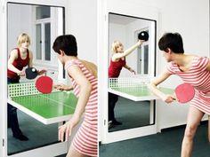 Ping Pong Door: Opening the Door to Space-Efficient Table Tennis