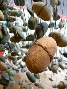 Hanging rocks used in Anthropologie window display (autumn 2012).