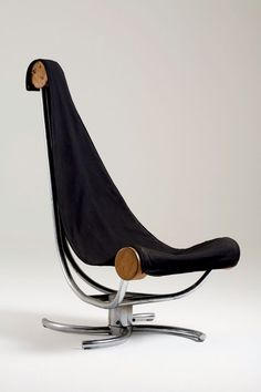 Sergio Bernardes; Wood and Chromed Steel 'Network' Chair, 1975.