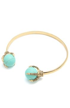 The Talon Cuff in Turquoise and Gold by *Accessories Boutique