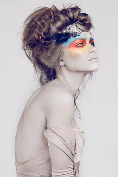 olsen twins, eye makeup, hairmakeup, colors, hair makeup, inspir, beauti, high fashion makeup, eyes