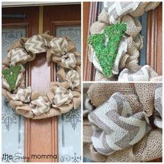 DIY Burlap Wreath -- Love it!!