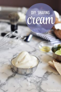 DIY Make Your Own Shaving Cream ~ Shave Lotion that would make a great last minute Father's Day gift. I'm sure the kids would have fun whipping this cream up for dad!