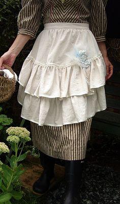 romantic country apron
