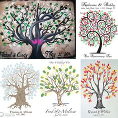 Thumbprint Wedding Tree