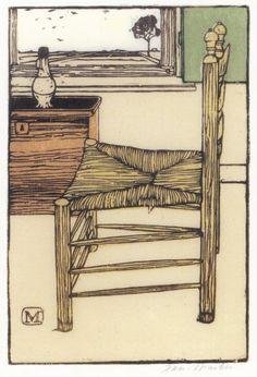 Jan Mankes, Dutch artist, 1889-1920, woodcut.