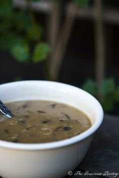 Clean Eating Cream Of Mushroom Soup From www.TheGraciousPantry.com