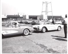 The National Council of Corvette Clubs (NCCC) visits the Corvette assembly plant in St. Louis on June 24, 1961.