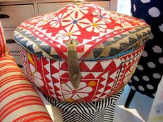 one-off Indian cloth box.