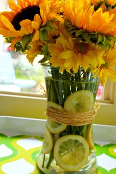 Sunflowers and Lemon Slices