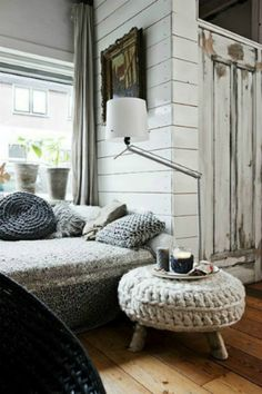 Crochet furniture. Pretty awesome.
