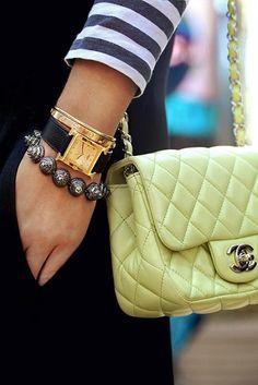 Lime chanel  Cartier bangle