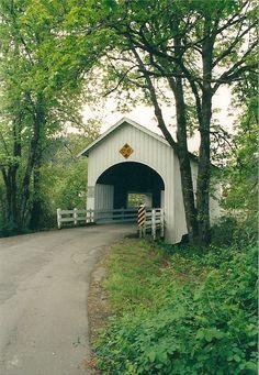 I used to ride my horse over this bridge Covered Bridge - Myrtle Creek, Oregon