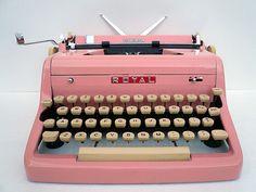 Pink typewriter.