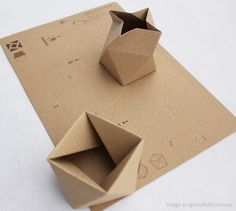 craft, cardboard boxes, azumi mitsuboshi, kraft paper, papers, packag design, origami, paper boxes, engineering