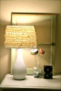 no sew ruffle lampshade.