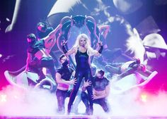 Britney Spears performs during her 'Britney: Piece Of Me Show' at Planet Hollywood Casino Resort on in Las Vegas, on Aug. 15, 2014