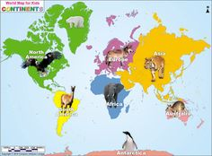 continents map for kids