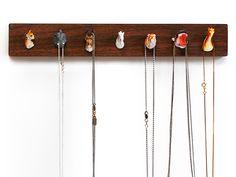 Pack Rack jewelry holder....such a cute idea