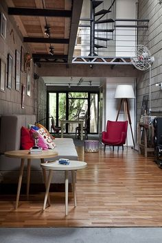 Awesome retro+industrial space!