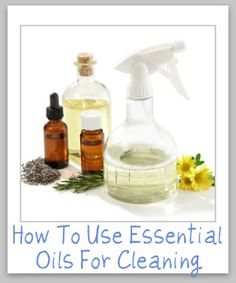 how to use essential oils for cleaning