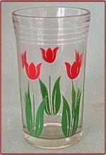 Swanky Swig Kraft Cheese Glass Tumbler Red Tulip No 3