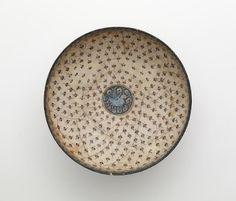 Bowl   Origin:  Iran   Period: 13th century  Saljuq period    Type: Stone-paste with underglaze decoration