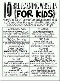 #kids #education #summer #learning #websites