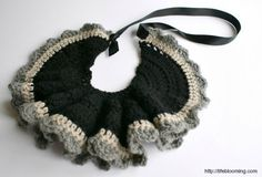 Beautiful #crochet bib necklaces by @lifeblooming01