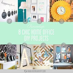 Roundup: 8 Chic Home Office DIY Projects   www.nostalgiosity.com  #office #homeoffice #chic #interiordesign #design #interiors #diy #mint #retro #mod