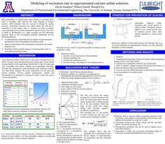 GPSC Student Showcase 2012: Modeling of nucleation rate of supersaturated calcium sulfate solutions