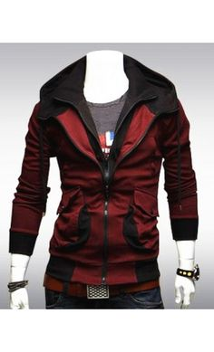 Double Zip Hoodie. Now Available in Red and Charcoal