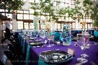 Purple & turquoise wedding