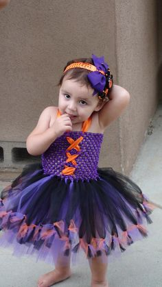Baby girl tutu dress/girl tutu dress/halloween tutu dress/witch tutu dress