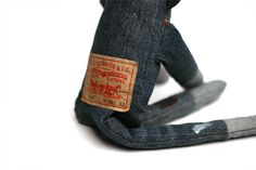Jean Monkey for @Adam Farnsworth: leather patch detail