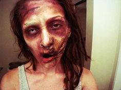 zombie with facial wound