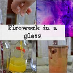 Make a firework in a glass , fun for New Year #Science #Fireworks